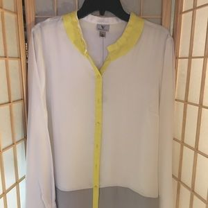 WORTHINGTON- yellow & gray top.